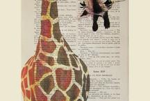 Animal Art: giraffes / by Abbey Trescott