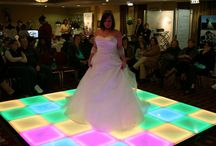 Dance Floor Rental! / The LED Dance Floor is a ton of fun! You can change the colors and the designs it displays!  You can also choose the size of the floor to fit your event! NEW - We now have Oak Dance Floors!