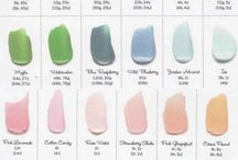 Colour chart for icings