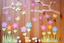 wiosna dekoracje sali