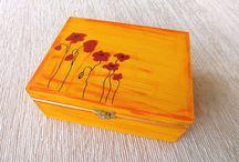 wooden box / pudełka drewniane