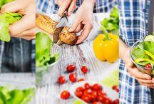 Jídlo / food / Jídlo, těstoviny, saláty, foodstyling. Food, pasta, salads.