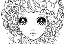 animee coloring book