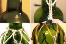 обвязаные бутылки