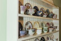 tea cup shelf