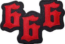 Embroidered Patches / A collection of embroidered patches which can be purchased from ELLU.com. We have iron on patches and sew on patches.