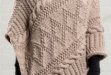 Knitted Poncho, shawl, capes