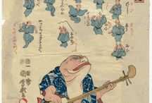 歌川(一国斎国麿)Utagawa ( Ikkokusai ) Kunimaro / うたがわ くにまろ、(生没年不詳)とは、江戸時代末期から明治時代初期にかけての浮世絵師。 歌川国貞及び四代目歌川豊国の門人。姓は菊越、名は菊太郎。画姓として歌川を称す。初名は房広、後に国麿と号す。また一円斎、松蝶楼、喜楽斎、麿丸、麿丸淫人、又平門人麿丸とも号した。俳号は菊翁。天保(1830年-1844年)後期から明治初年頃にかけて活動しており、幕末期に多少の風俗画、双六絵を残している。代表作として大錦の揃物「東都堀名所」があり、この作には「房廣改國麿画」と落款している。また「写生猛虎之図」では、当時は雌の虎と考えられていた豹が描かれている。錦絵のほかに艶本などの挿絵も描いており、刊行年不明の艶本『朝顔日記』3冊などがある。