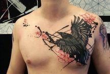 Realistic Polka Trash / Tattoo Art