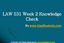 LAW 531 Week 2 Knowledge Check