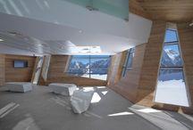 Funivie Monte Bianco / Realizzazione arredi su misura, seriali e attrezzature per le stazioni funiviarie di risalita al Monte Bianco  Turn-key furniture, fit out, total execution for three cableway stations of Mont Blanc ropeways