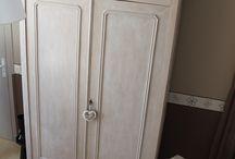 Armoire patinée / Patiner l'armoire de grand-mère
