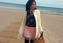 Tulle on the Beach / #StreetStyle #RomanticOutfit #FloralPrint #TulleSkirt  Visit my Blog http://mylovelywishes.wordpress.com/