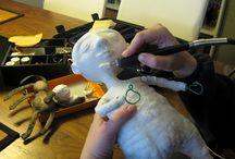 making a spun cotton figure