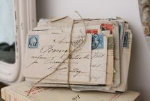 Writing and calligraphy / Old fashioned writing, letters, postcards