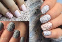Sweater Nails | Knit Nail Designs