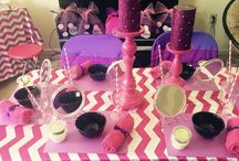 Pink Chevron Spa Party for girls birthday / Spa Party for Girls