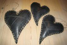 DIY / Hjerter lagd av traktor slanger
