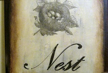 Nest and bird art