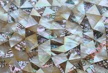 Mixed MOP Tiles / Mother of pearl mosaic tiles with mixed colors