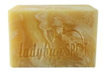 lemongrass soap / cold process lemongrass soap that smell like lemon drop candy.  soap whole family will love.   / by Ladybug Spot