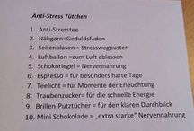 "Kreative Ideen z.B. ""Anti-Stress-Tütchen""..."