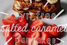 slimming world salted caramel syn free pancakes