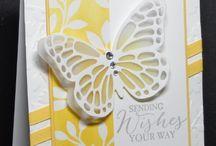 Cartes avec papillons