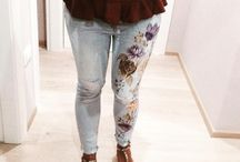 unica / Jeans decorated, creative lab, fashion, homemade