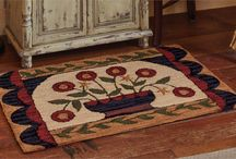 Hooked Rugs, Pillows, & Wallhangings