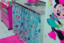 Projeto casa rosa e azul tifany / Apaixonada por transformar minha casinha velha em casa de boneca!