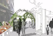 Mare Street Triangle,London / Inter Urban Studios seeks to re-imagine the Mare Street Triangle through an open call for ideas on how market stalls, pop-ups, pavilions, and other interventions can transform underused and residual urban spaces. Visitors are encouraged to share their thoughts with us through their sketches and collages to inform the Triangle's future.