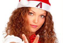 MLB Santa Hats