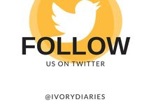Ivory Diaries Social Media / Want to find us? Use your favorite social media.