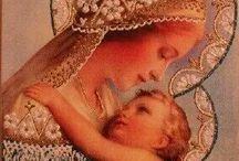 Madona, Ježiš, svätí