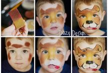 chien face painting