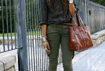 Cargo pants / Cargo pants / khaki combinations