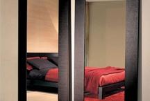 Modern New Tall Standing Wenge Wood Frame Bonny Mirror