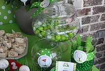 Golf Party / Great party ideas to help you throw a fun, colorful, and sweet Golf party. Featuring decorations, party ideas, dessert tables, party favors , free printables, and more.