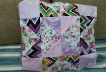 patchwork cushion / made from linen...