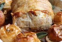 roti  de porc au cidre