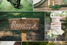 Lush Rustic Wedding Party- Green & White