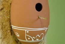 Lucienne's Terracotta Collection / This board features unglazed 'red' and white earthenware vessels with which the word 'terracotta' is widely associated. Terracotta derives from 'terra cocta' the latin for 'baked earth'. This type of ceramic has a multitude of uses the most widespread of which may well be in horticulture.