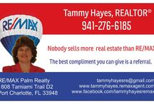 Charlotte County Florida Real Estate Services / Real estate services offered by Tammy Hayes, Realtor, Re/Max Palm Realty, Port Charlotte, FL