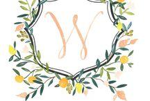 MONOGRAMS & CRESTS / Wedding monograms and crests