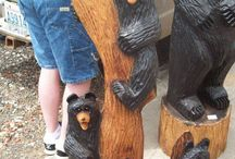 Chainsaw Carvings / Chainsaw carvings created by my hubby and I. / by Kellie Schulz