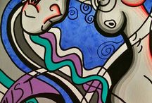 Cubistic ladies / my works of art of my cubism painting