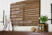 Pallet Wall Decor / Pallets Ideas, Designs, DIY, Recycled, Upcycled Pallet Plans And Projects.