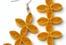 Paper Earrings + Jewellery / Paper quilled earrings, pendants, paper jewelry