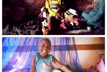 Before and After / This shows the children before we rescued them, and after, now that they are in the loving protection of our Koinonia Family.